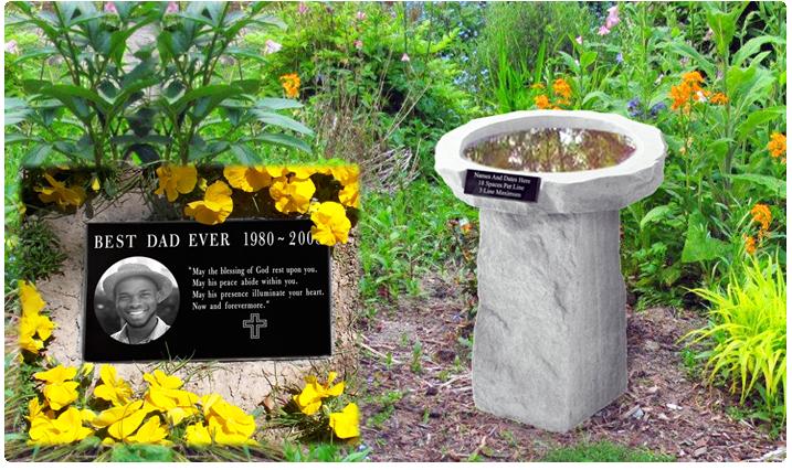 Memorials for the garden outdoor memorials memorial gallery for Garden memorials for loved ones