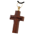 Dark Wood Cross Cremation Pendant