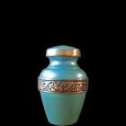 Seafoam Green Brass Mini Urn