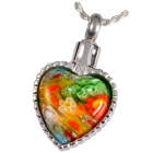 Art Glass I Stainless Steel Heart