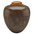 Classic Artisan Urn with American Black Walnut and Cherry Lid