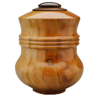 American Sycamore Wood Urn with Walnut Lid