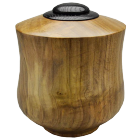 Tulip Poplar Wood Urn with Ebonized Oak Lid