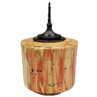 Red Box Elder Keepsake Urn with Ebonized Oak Finial