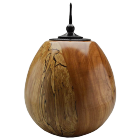 Spalted American Beech Wood Urn with Ebonized Oak Finial