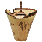 Ambrosia Maple with Walnut Finial Fine Art Urn