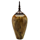 Spalted Pecan Keepsake Urn with Walnut Finial