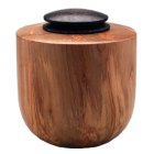 Ambrosia Maple Wood Urn with Ebonized Oak Lid
