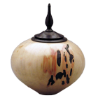 Box Elder Wood with Ebonized Oak Finial