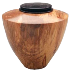 Spalted Maple Wood with Ebonized Oak Lid Keepsake