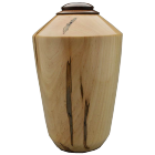 Bleached Ambrosia Maple Wood Urn With Walnut Lid
