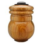 Pecan Wood Urn with Ebonized Oak Lid