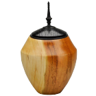 Cherry Wood Keepsake Urn with Ebonized Oak Finial
