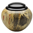 Box Elder with Ebonized Maple Lid Keepsake Urn