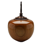 Cherry Wood Keepsake Urn with Walnut Burl Finial
