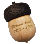 Wooden Urn Keepsake Mini Acorn with Optional Engraving