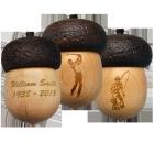 Wooden Urn Keepsake Mini Acorn with Optional Engraving