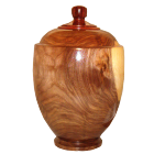 Black Walnut Wooden Urn With Finial