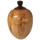 Resplendent Ambrosia Maple Hand-turned Wooden Urn