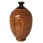 Elegant Cherry Wood Cremation Urn