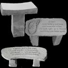 Memorial Garden Stone Bench