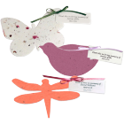 Plantable Seed Cards with Personalized Tag- Set of 100