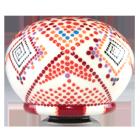 Red Dots Ceramic Urn