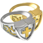 Cross Shield Ring