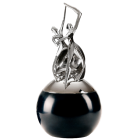 Dance of Life Double Urn Silver Black Patina