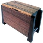 Modern Black Limba Artisan Wood Urn