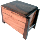 Modern Ambrosia Maple and Walnut Artisan Wood Urn