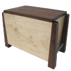 Modern Maple and Walnut Artisan Wood Urn