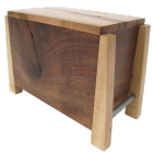 Modern Maple and Black Limba Artisan Wood Urn