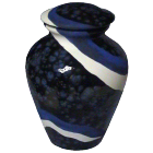 Waves Ceramic Hand-painted Urn