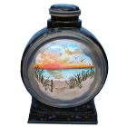 Serene Sunset Ceramic Hand-painted Urn