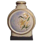 Luscious Lilies Ceramic Hand-painted Urn