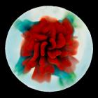 Floral Glass Art Cremation Keepsake
