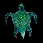 Sea Turtle Glass Art Cremation Keepsake