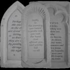 Framed Garden Memorial Stone