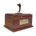 maple wood motorcycle engine urn in bronze