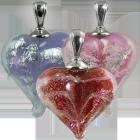 Loving Memory Heart Glass Pendant