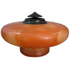 Orange Alabaster Pedestal Urn