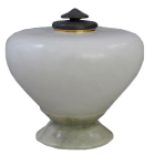 Italian Alabaster & Sage Keepsake Urn
