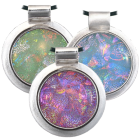 Dichroic Glass Round Opal Pendant