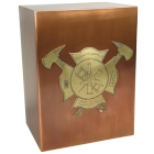 Firemen's Memorial Copper Art Urn
