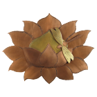 Lotus with Dragonfly Copper Art Urn