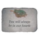 """You Will Always..."" Trumpet Angel Garden Memorial Stone"