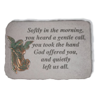 """""""Softly In The Morning..."""" Metal Angel Garden Memorial Stone"""