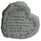 """""""A Heart Of Gold..."""" Garden Memorial Stone Heart"""