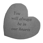 Heart Shaped Garden Memorial Stone